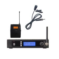 Single Channel UHF Wireless Cordless Lavalier Clip on Lapel Microphone System