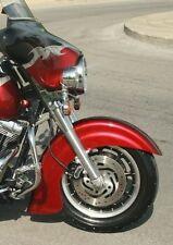 "Indian Style 16""- 18"" Fiberglass Front Fender for Touring Flh Harley Davidson"