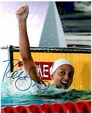 REBECCA SONI Signed Autographed TEAM U.S.A. Olympic Swimming 8x10 Pic. F