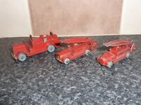 2x VINTAGE LESNEY MATCHBOX 1-75 1ST SERIES No.9 & No.9A & 1x OTHER FIRE ENGINE