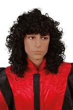 Perruque pour deguisement michael jackson costume frisée cheveux années 80 bad