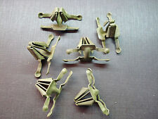 6 pcs 1961 Chevy lower door moulding clips NOS