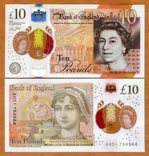 Great Britain 10 pounds, 2017, P-New QEII, Jane Austen UNC > Polymer