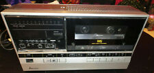 MITSUBISHI PORTABLE VHS VCR HS-700E RECORD CAM FOR REPAIRS PARTIAL WORK POWER ON