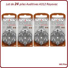 Lot de 24 piles boutons auditives A312 Rayovac, livraison rapide et gratuite