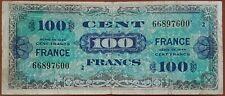 Billet 100 francs série de 1944 FRANCE préparer par les USA pour la libération