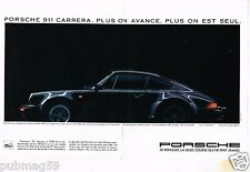 Publicité advertising 1986 (2 pages) Porsche 911 Carrera