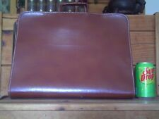 """(F71) Vintage """"Olympic"""" Tolex Zippered Briefcase (Pre-Owned / Good Condition)"""
