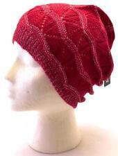Winter Apt.9 Women Red Shiny Beret Beanie Wavy Warm Comfortable Hat Knit 8705