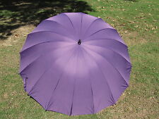 Plum Purple Wedding Umbrella 16 Panel Classic Design 60 Inch covers 2 adults