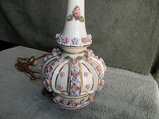 Rare NANCY CHINA porcelain lamp Meissen Dresden Capodimonte USA new jersey 1940