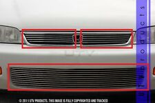 GTG 1994 - 1997 Honda Accord 3PC Polished Overlay Combo Billet Grille Grill Kit