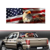 USA American Flag Eagle Label Rear Window Graphic Decal Sticker Car Truck SUV GA
