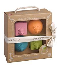 Vulli - So'Pure - Sophie la Girafe - Set de 2 Balles + 2 Cubes