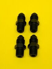 "-4AN To 1/8"" NPT Fittings 4 pieces Black AN4 Brake Nitrous Oil Clutch Adapter"