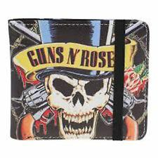 Guns N Roses Wallet Skull N Guns Band Logo new Official Black Bifold One Size