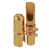 B-flat Tenor Saxophone Sax Metal Mouthpiece Size #6 Gold Plated