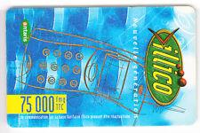 AFRIQUE TELECARTE / PHONECARD .. MADAGASCAR 75.000FMG ILLICO ANTARIS SMM BLEU