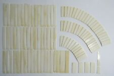Full Set 104 Reclaimed Antique Piano Keytops, Not Plastic