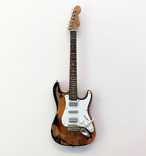 Eric Bell (Thin Lizzy): Stratocaster - Guitar Miniature Replica (UK Seller)