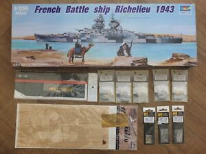 Trumpeter 05311 - French Battleship Richelieu 1943 - 1/350 Kit + Upgrade Sets