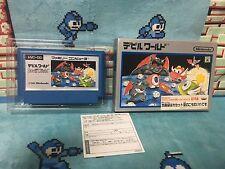 Devil World Famicom Cassette Case in Box Japan Nintendo