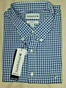 NEW NWT SADDLEBRED MEN'S BUTTON FRONT SHIRT BIG & TALL SIZE 2XLT 3XLT 2X 3X S/S