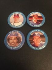 VINTAGE 1984 FUN FOODS Texas Rangers PIN BUTTON Team Set Bell Hough