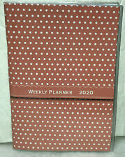 """2020 Weekly Planner Signature Series Calendar Pink White Polka Dots 5"""" x 7-1/2"""""""