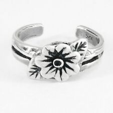 Flower Toe Ring in Solid 925 Sterling Silver - New - Made in the Usa!