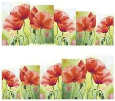 Nail Art Calcomanías Traslados Pegatinas Flores Rojas (A-855)