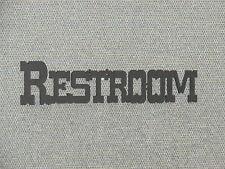 Western Style Restroom Door Word Signs
