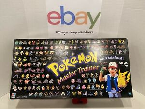 Pokémon Master Trainer Board Game 1999 Milton Bradley 100% COMPLETE Used