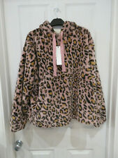 New Ladies Next downtime pink leopard print night hoodie size 12-14