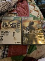 Sniper Ghost Warrior & Rage Game Lot for Xbox 360 - New Factory Sealed Lot