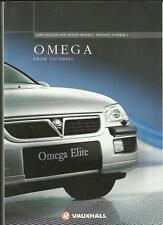 VAUXHALL OMEGA SALOON AND ESTATE MODELS SALES BROCHURE OCTOBER 1997 FOR 1998