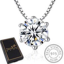 Zirkonia Kette Halskette 925 Sterling Silber Damen +Etui, Schmuckhandel Haak®