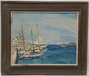 Important Attrib Julian Arpels Van Cleef Nassau Impressionist Painting Bahamas