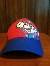 Nintendo Super Mario Bros Ball Cap Hat Youth Velcro Adjustable Free Shipping
