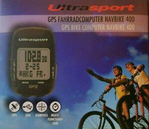 Fahrradcomputer GPS NavBike 400 Kompass USB Multifunktionsuhr Ultrasport
