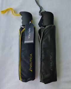 "Nautica Auto Open and Close Umbrella 43"" Coverage Folding Light Weight Brand New"