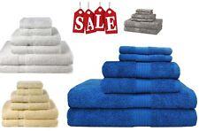 Bath Towel 6 Piece Set Bathroom Towels 100% Egyptian Cotton Luxurious Blue