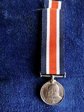 Genuine Edward Vii silver miniature Medal: Naval Good Shooting 1903-14 - scarce.