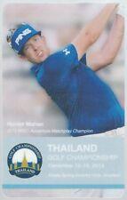 2012 HUNTER MAHAN THAILAND GOLF CHAMPIONSHIP PASS TICKET VERSION 2 RARE CARD