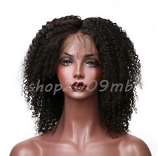 Kinky Curly Brazilian Lace Front Wigs Middle Part Plucked+Baby Hair Natural Hair