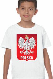 Polish Football T-Shirt Boys Polska Eagle Orzel Kids Poland World Cup 2018 Flag