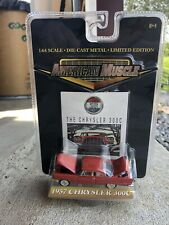 1957 Chrysler 300C Red American Muscle Die-Cast Metal Car Ertyl 1/64 Scale NIB