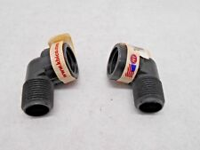 """1/2"""" Thread Swing Joint Elbow Sprinkler System Pipe Fittings - 38503 Lot of 2"""