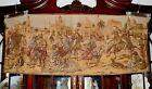 """Vintage Belgian Woven Oriental Scene Tapestry  59""""L"""