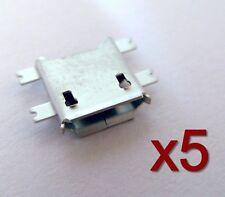 5x connecteur à souder micro USB type B femelle / 5x female connector for solder